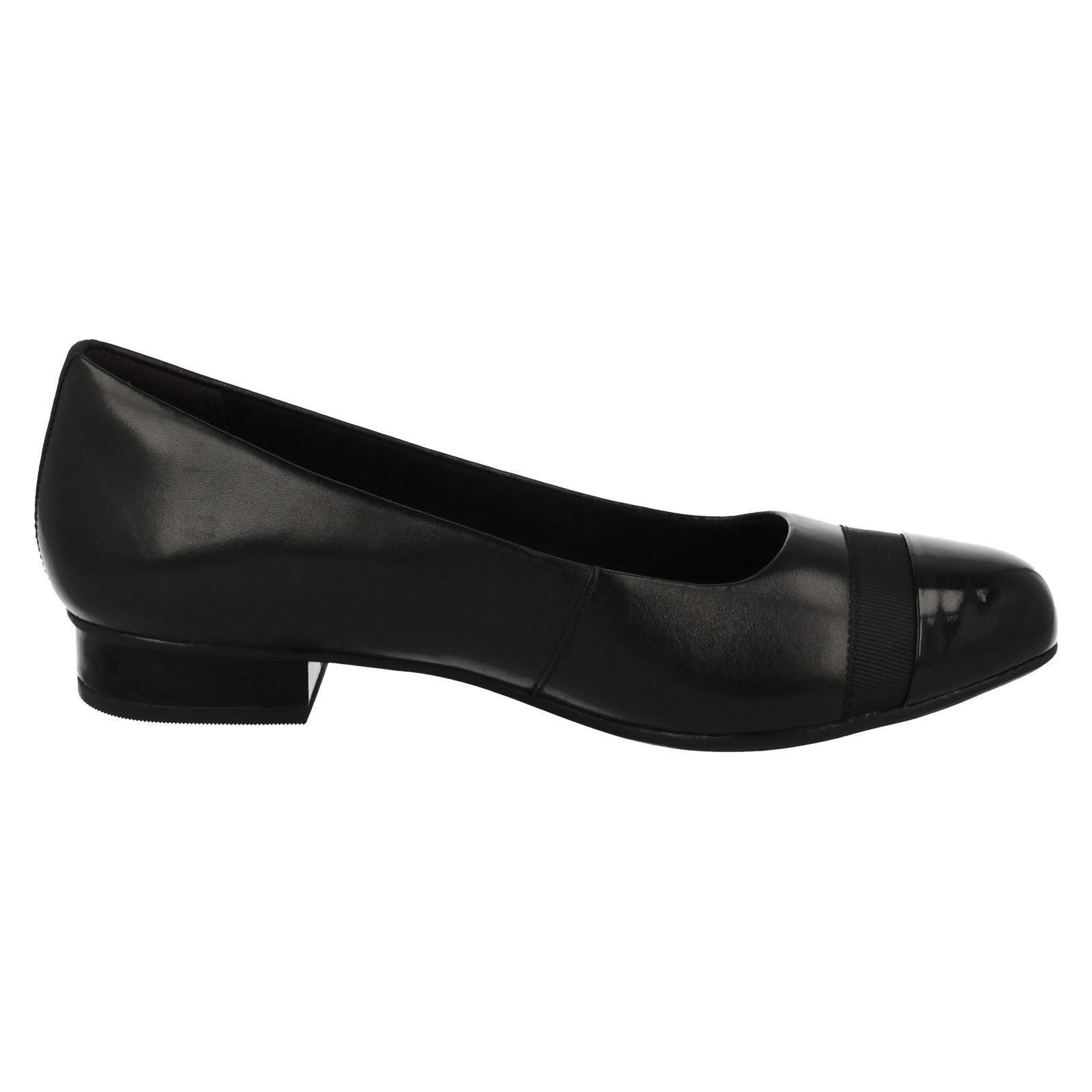 Damen-Clarks-Slipper-Leder-Ballerina-Stil-Flache-Keesha-Rosa Indexbild 16