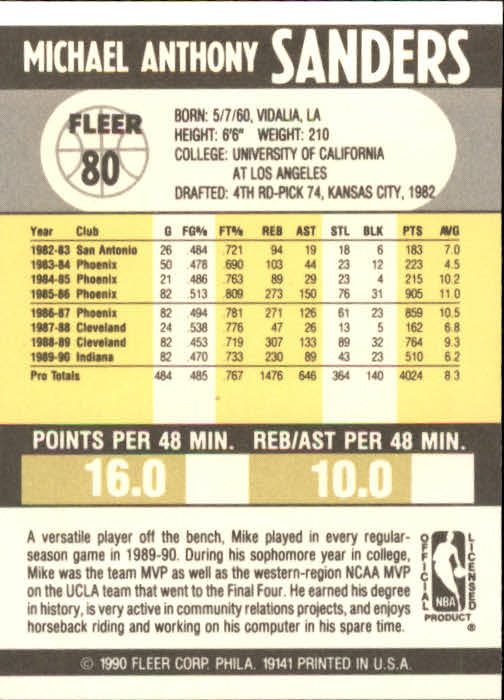 1990-91-Fleer-Basketball-Card-Pick thumbnail 163