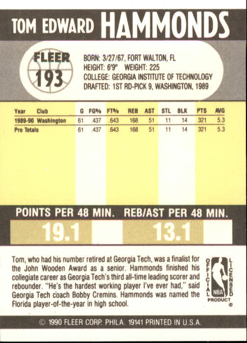 1990-91-Fleer-Basketball-Card-Pick thumbnail 389