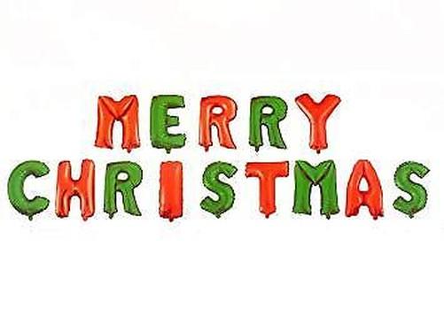 40-6cm-Argento-Oro-Buon-Natale-Palloncini-Stagnola-Auto-Gonfiante-Festa-di