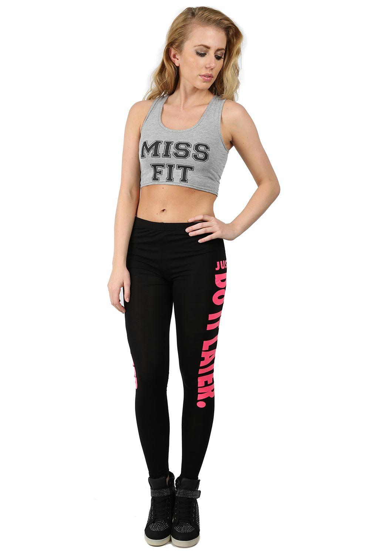 Womens Ladies Girls Addicted Boston Printed Gym Full Length Stretch Fit Leggings