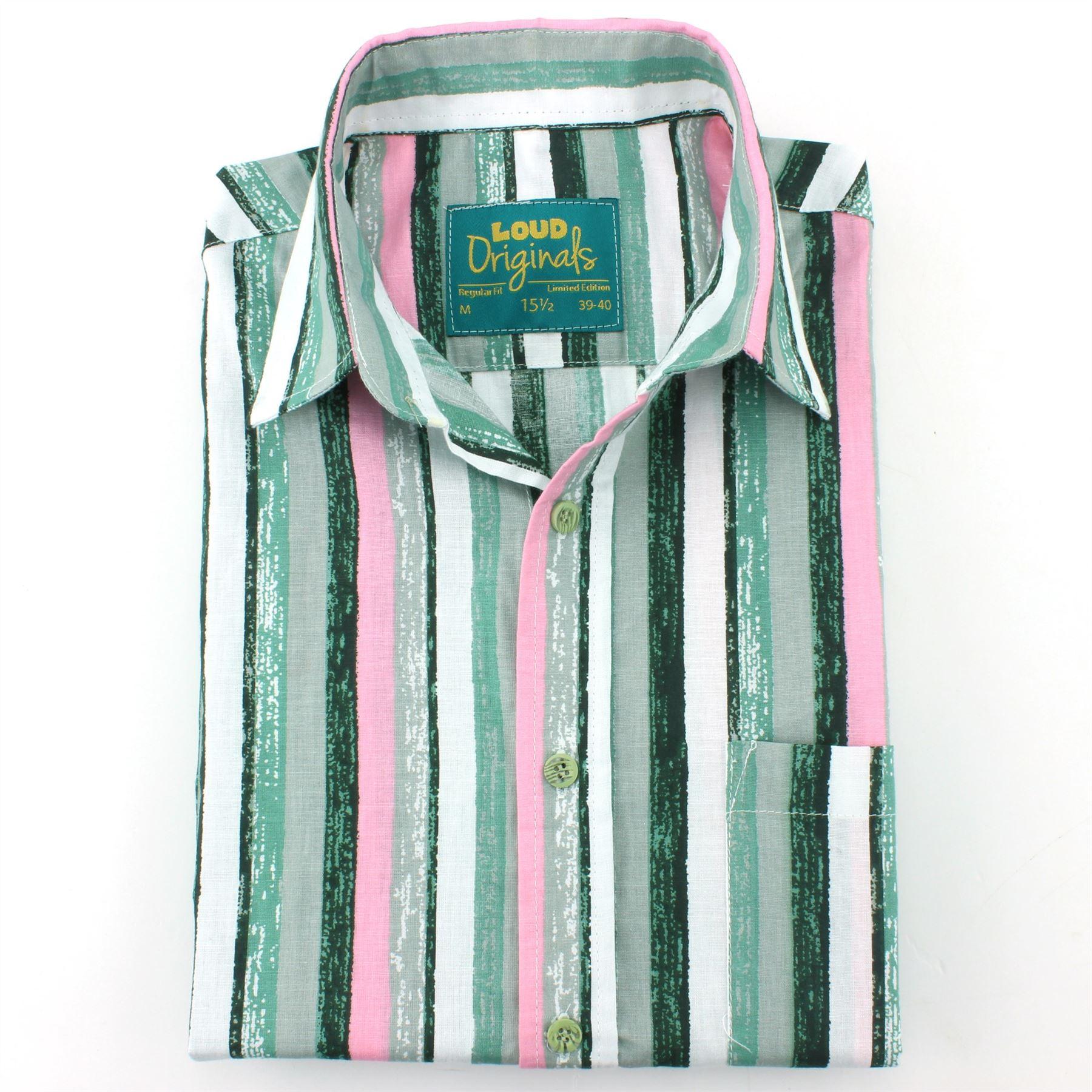 Herren Herren Herren Shirt Loud Originals Regular Fit Bayadere Retro Psychedelic Kostüm   Verrückte Preis  0d56ef