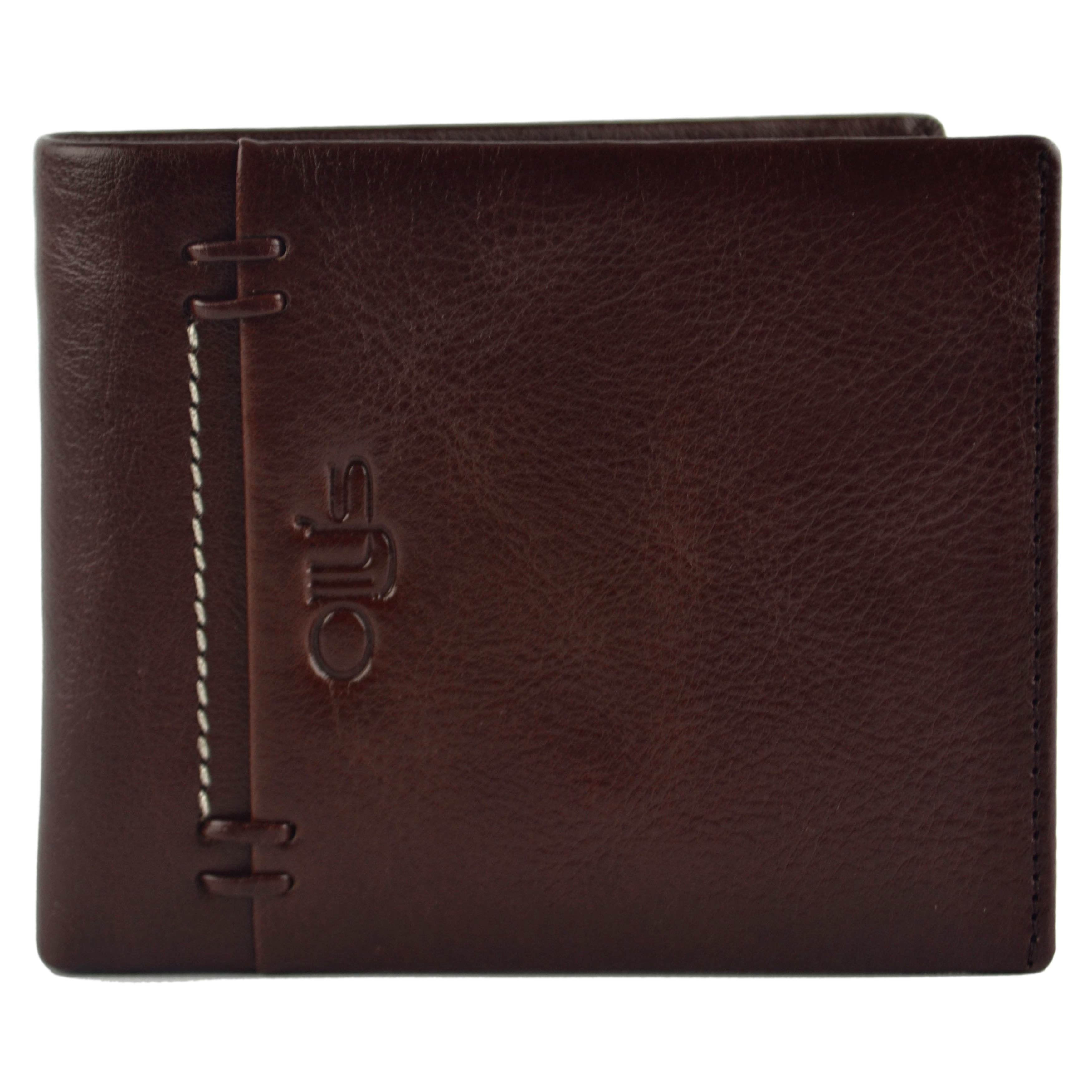 thumbnail 10 - Mens-Fine-Grain-Classic-LEATHER-Wallet-by-OLLY-039-s-Banks-Collection-Gift-Boxed