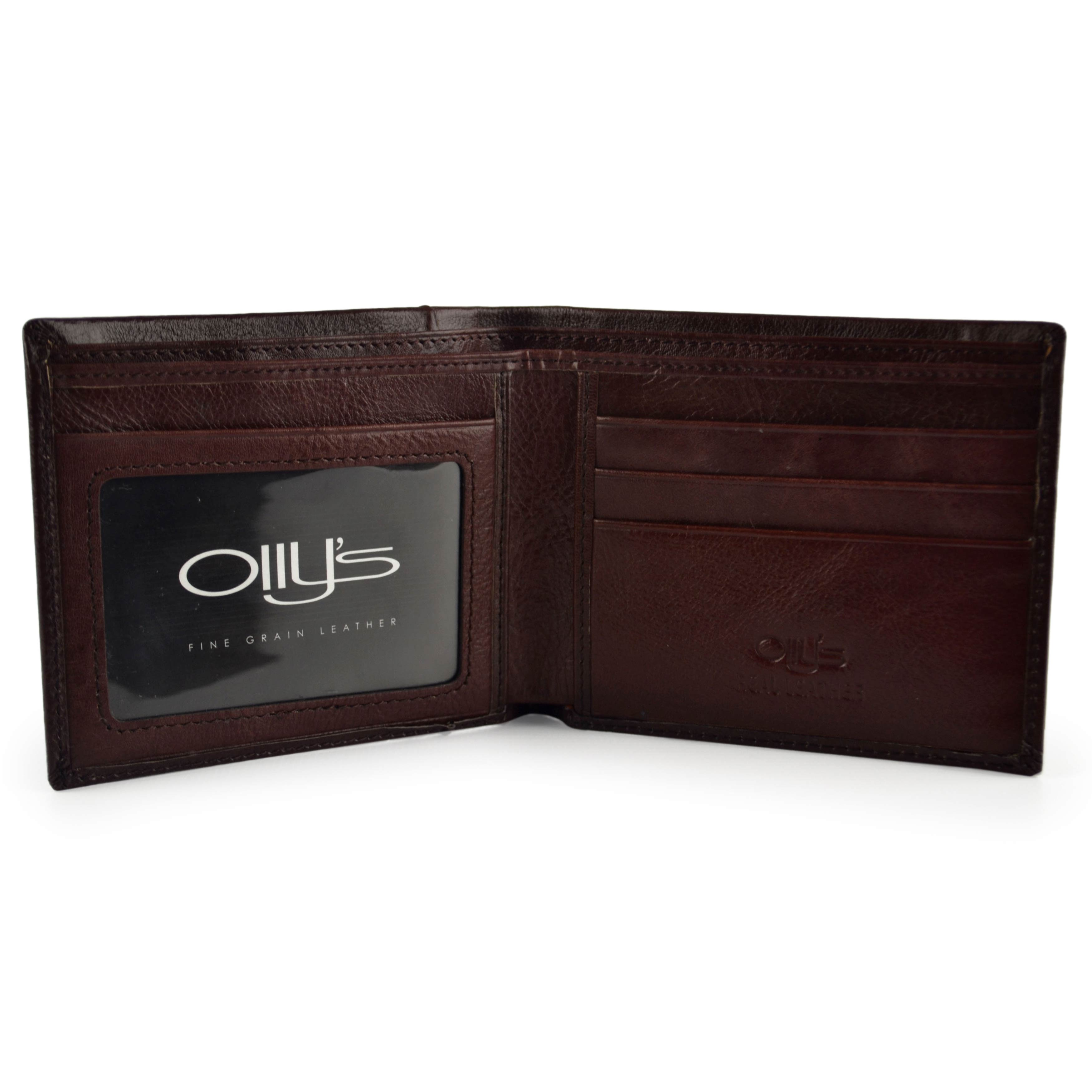 thumbnail 11 - Mens-Fine-Grain-Classic-LEATHER-Wallet-by-OLLY-039-s-Banks-Collection-Gift-Boxed