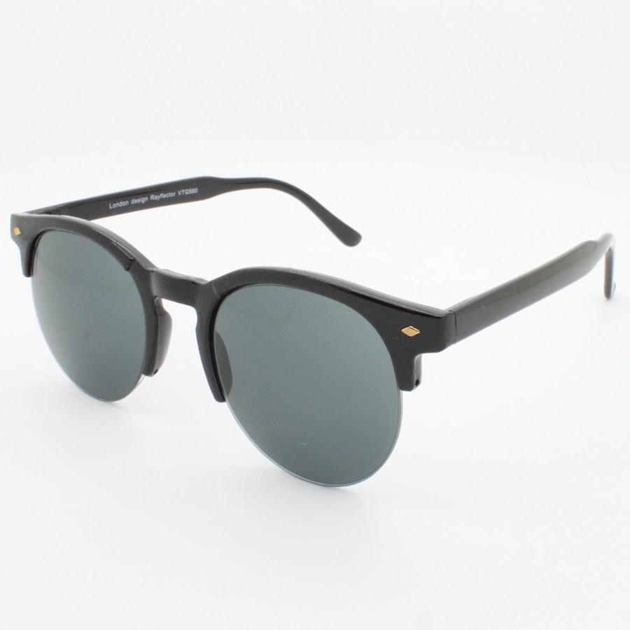 Half Framed Fashion Glasses : 80s Browline Indie Dapper Vintage Round Half Frame ...