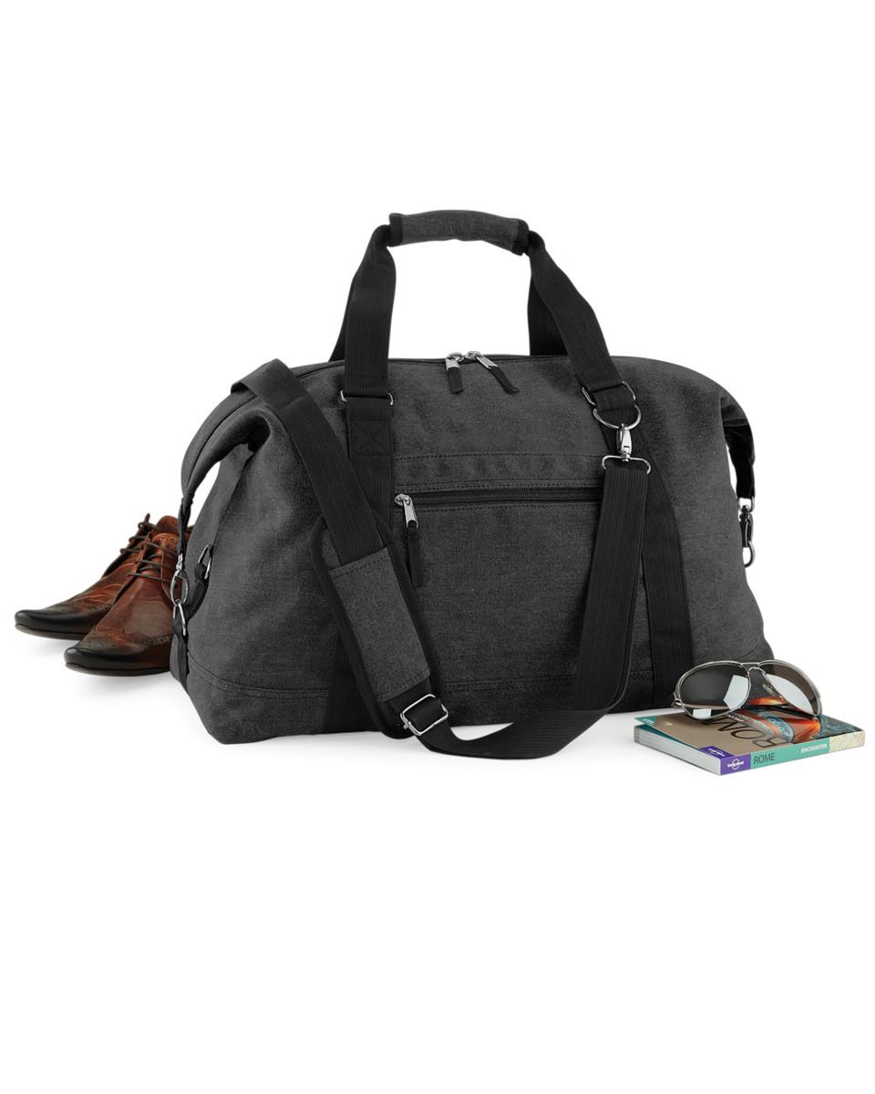 BagBase sac vintage en toile - Noir - Vintage Black, One EU
