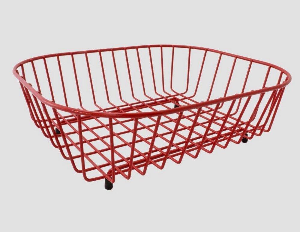 delfinware rot plastik beschichtet stahldraht waschbecken. Black Bedroom Furniture Sets. Home Design Ideas