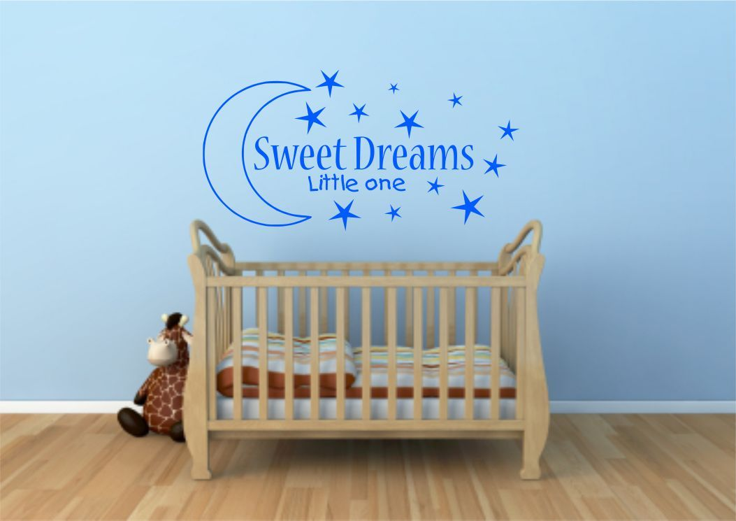 sweet dreams kids wall art sticker quote decal transfer mural