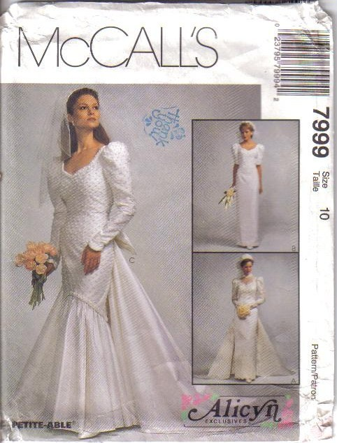 OOP Bridal Wedding Gown Bridesmaid Dress Misses Size McCalls Sewing ...