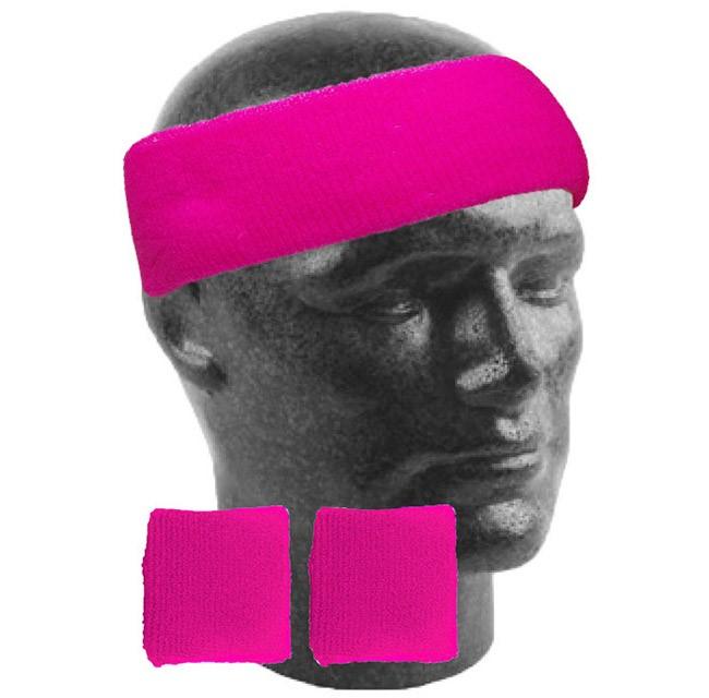 80er jahre neon stirnband und schweissb nder handgelenk party kost m event run ebay. Black Bedroom Furniture Sets. Home Design Ideas