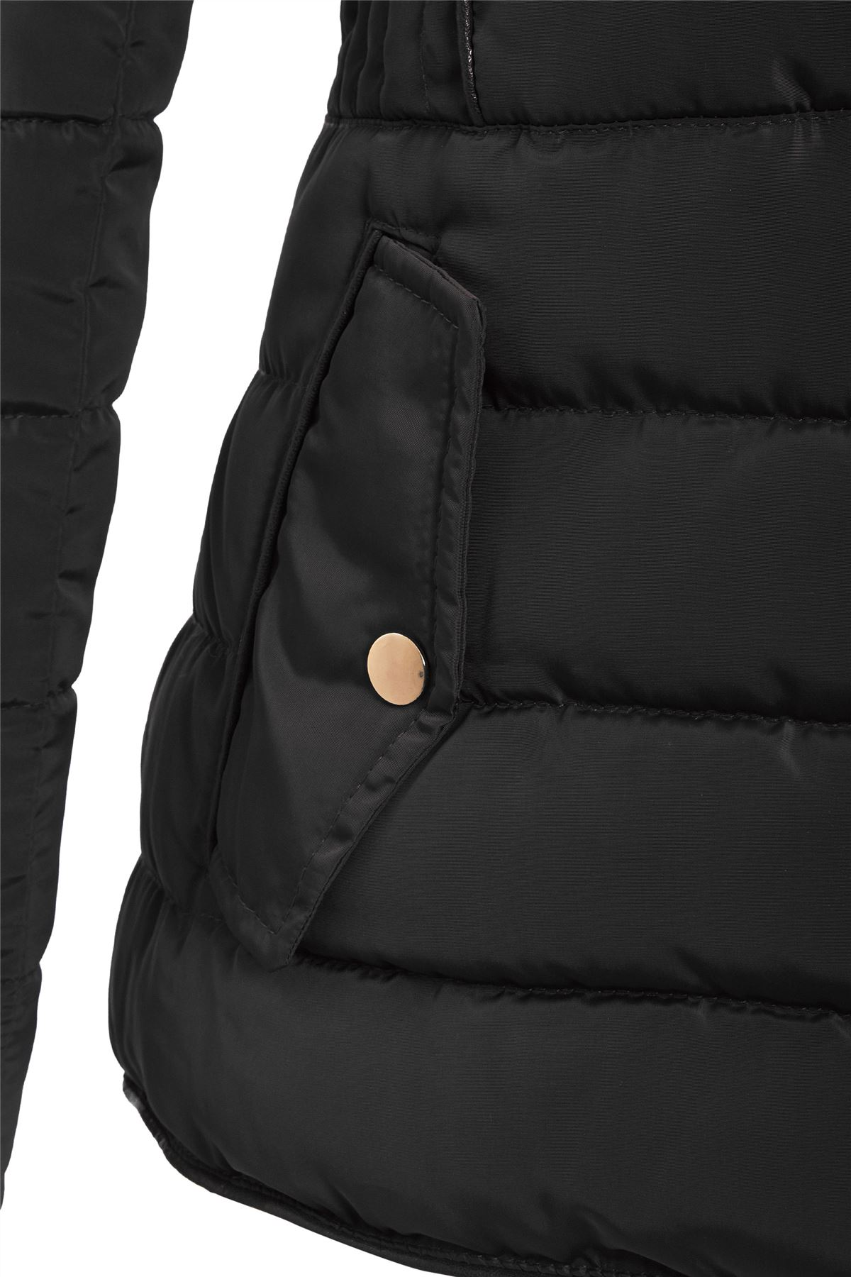 Quilted Dame Jacket Faux Hooded Coat Shelikes Fur PwFInzqdwx