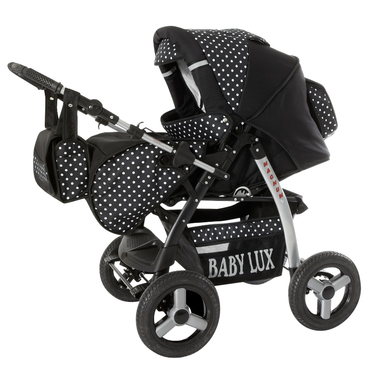 lux4kids magnum kinderwagen kombiniert buggy mit buggy ebay. Black Bedroom Furniture Sets. Home Design Ideas