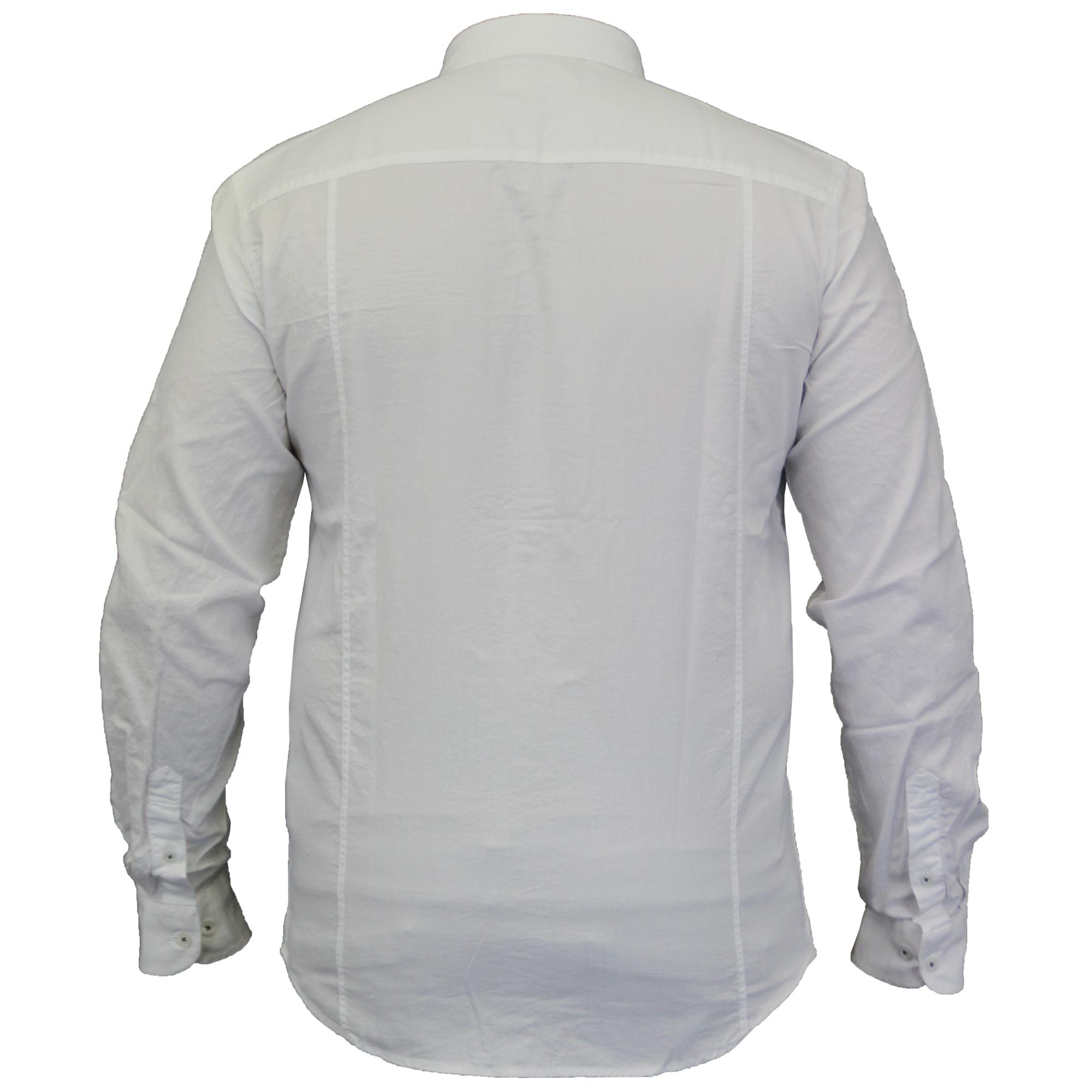 Copertura Manica Con Colletto Anatra Lunga Camicia Cotone Corto E Mens Di rF0wrqU