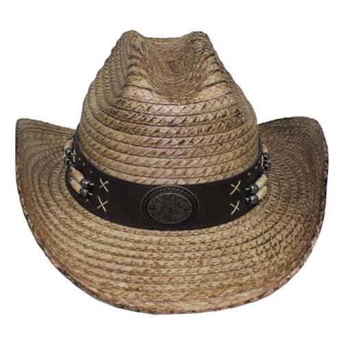 homme chapeau de paille cowboy d 39 t ruban menton ebay. Black Bedroom Furniture Sets. Home Design Ideas