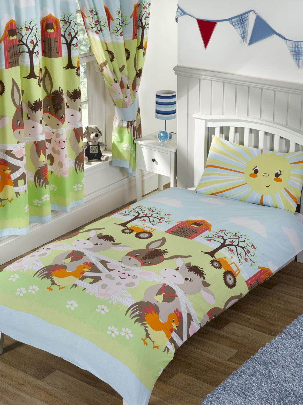 filles-COUVERTURE-COUVRES-LITERIE-Junior-simple-double-Licorne-oiseaux