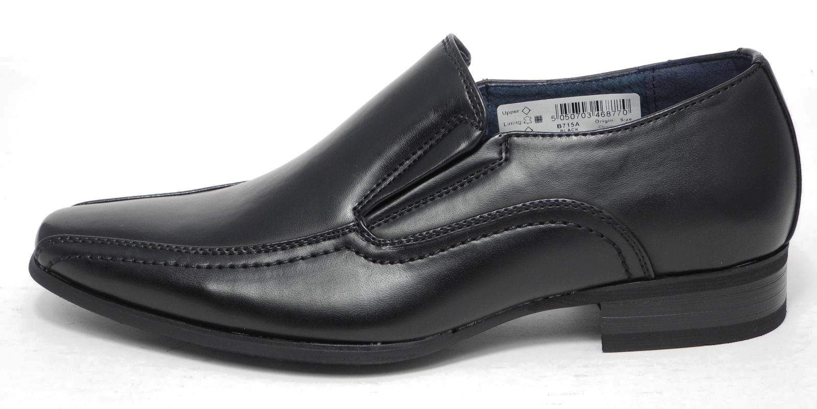 Boys Tan Black Leather Lined Slip On Smart Formal Shoes Size 13 1 ...
