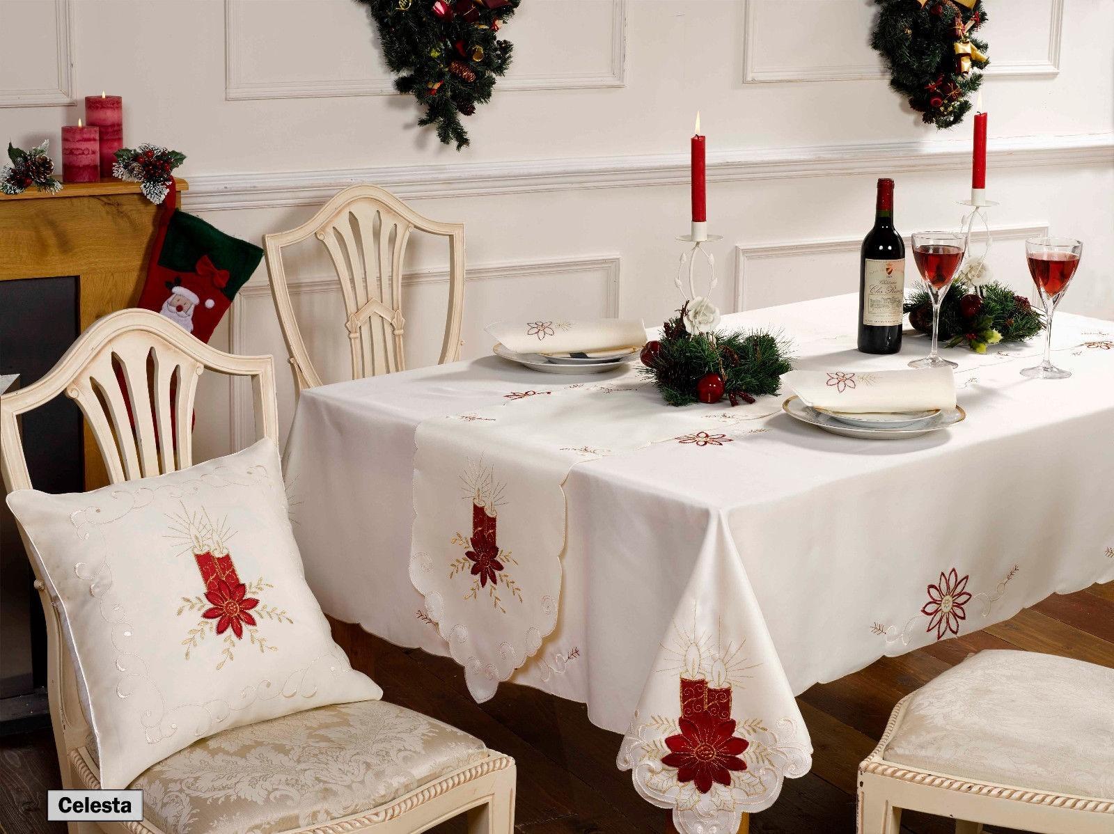 Natale tovaglie runner da tavolo tovaglioli o cuscini ebay - Runner da tavolo ...