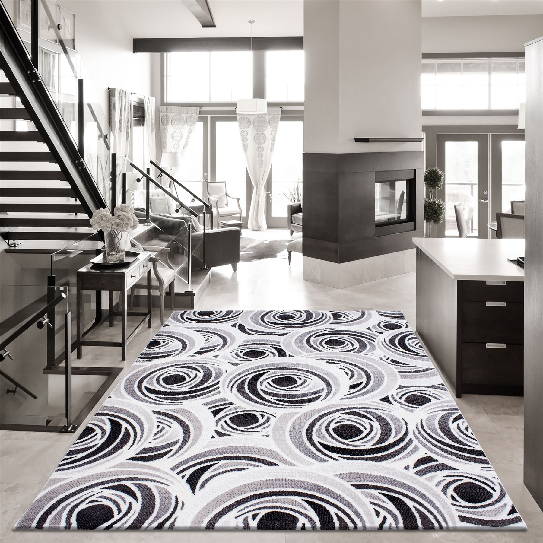 modern quality designer contemporary rugs extra large black grey  - modernqualitydesignercontemporaryrugsextralargeblack