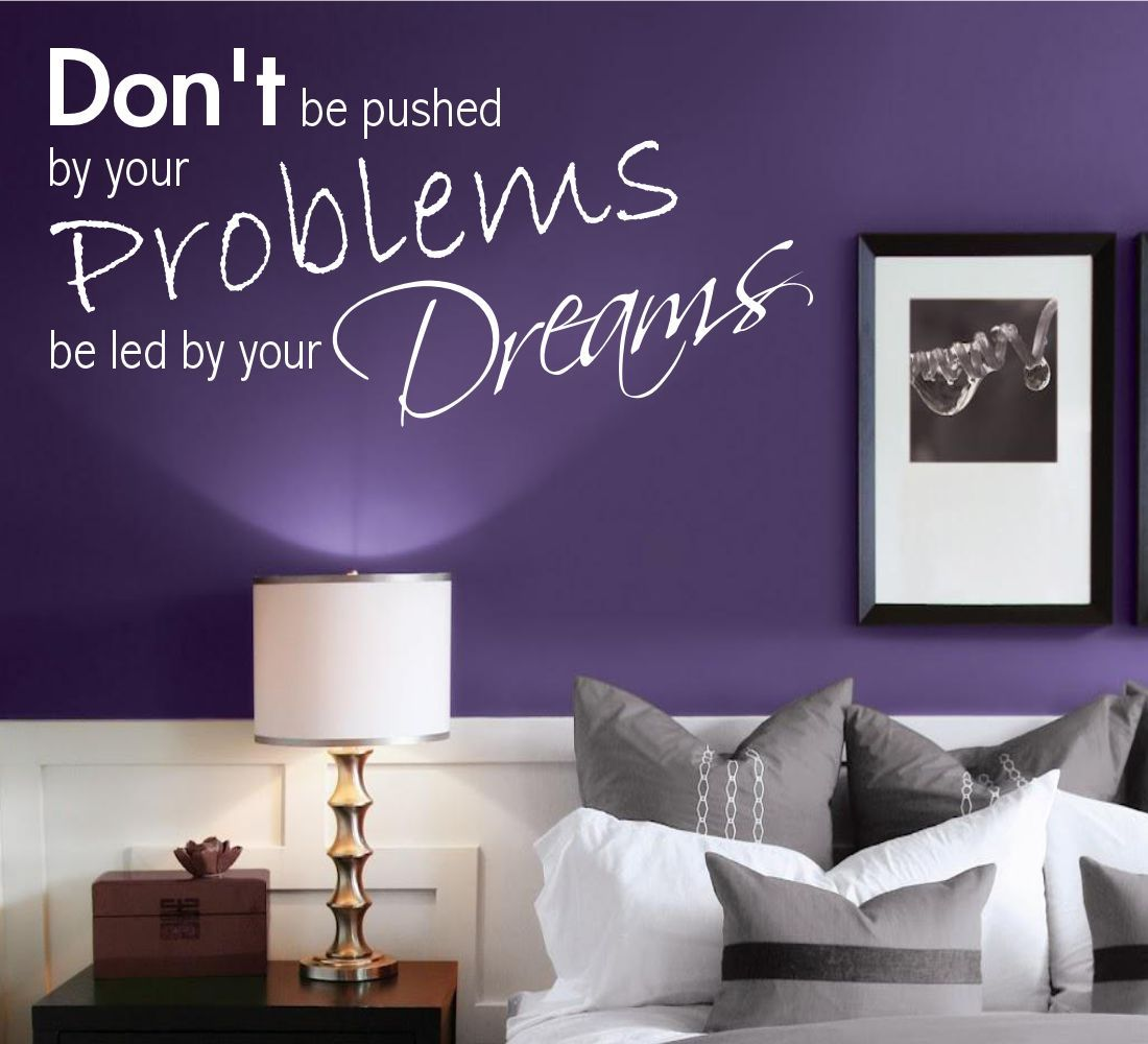 Dreams problemas dormitorio decoraci n pared frases for Pegatinas pared dormitorio