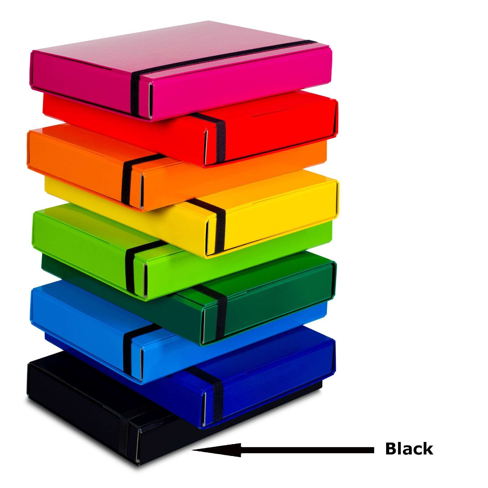 A4-Caribic-SCHEDE-DOCUMENTI-Scatola-cartella-elastico-banda-immagazzinamento