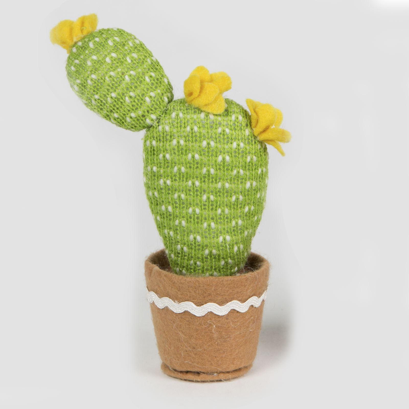 sass belle color cactus tissu tricot faux plante amusant pot d coration ebay. Black Bedroom Furniture Sets. Home Design Ideas