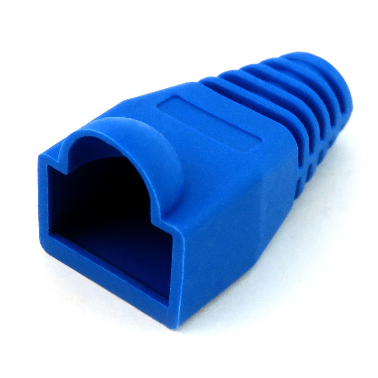 blau rj45 cat5e cat6e lan netzwerk ethernet kabel anschluss knickschutz boot ebay. Black Bedroom Furniture Sets. Home Design Ideas