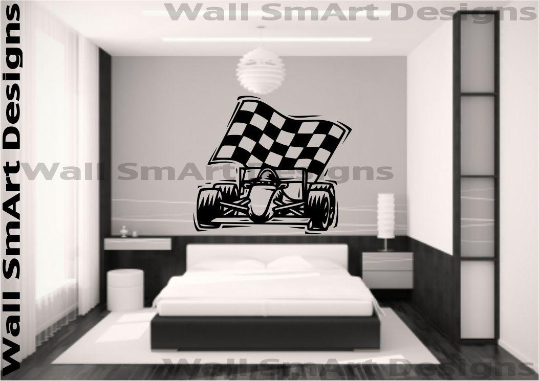 F1-carreras-Car-Racer-Pegatina-Vinilo-Pared-Dormitorio-De-Ninos-Nina-Hogar