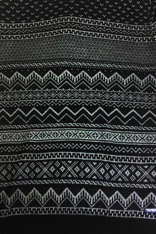 Mens-Threadbare-Santiago-Luxury-Geometric-Fairisle-Patterned-Knitted-Jumper thumbnail 5
