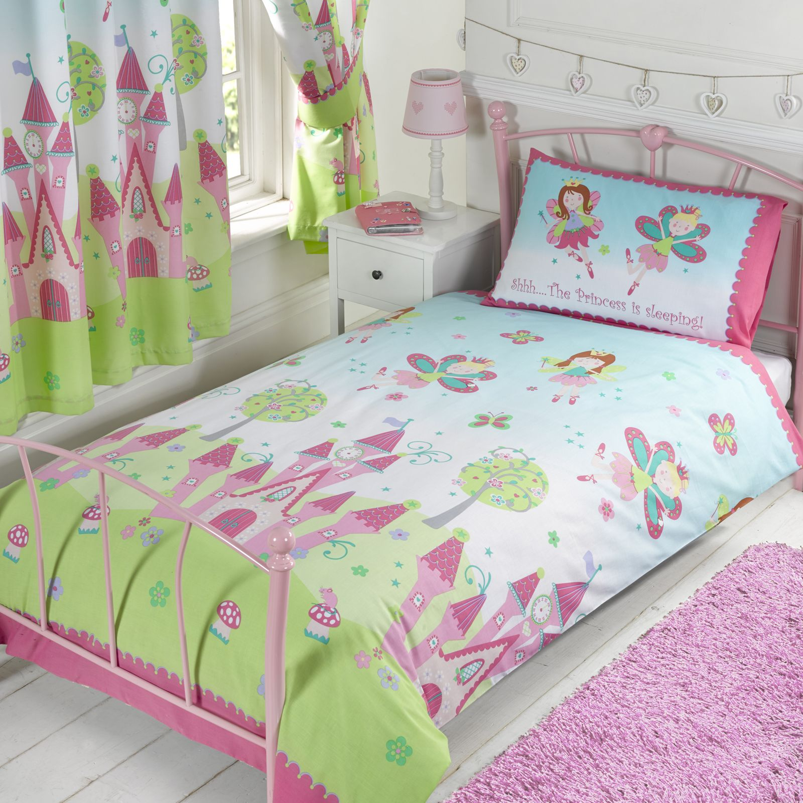 detail cover ixlib main double bed single rails pink unicorn matalan print kids duvet product bedding