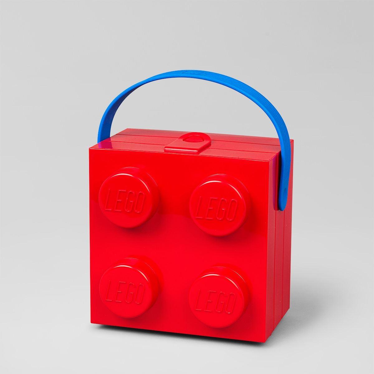LEGO Lunch Box Classic Handle Rubber Plastic Kids School Portable | eBay