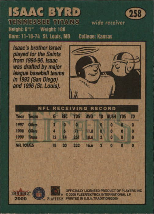 thumbnail 17 - A7983- 2000 Fleer Tradition FB #s 251-400 +Inserts -You Pick- 10+ FREE US SHIP