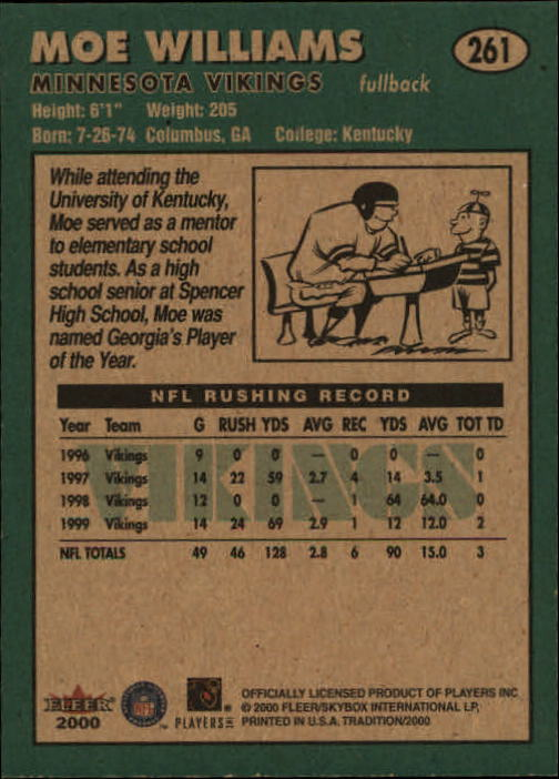 thumbnail 21 - A7983- 2000 Fleer Tradition FB #s 251-400 +Inserts -You Pick- 10+ FREE US SHIP