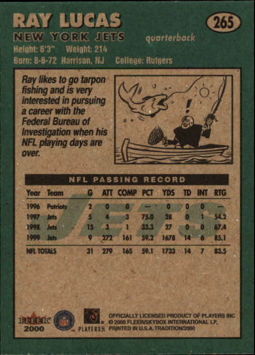 thumbnail 27 - A7983- 2000 Fleer Tradition FB #s 251-400 +Inserts -You Pick- 10+ FREE US SHIP