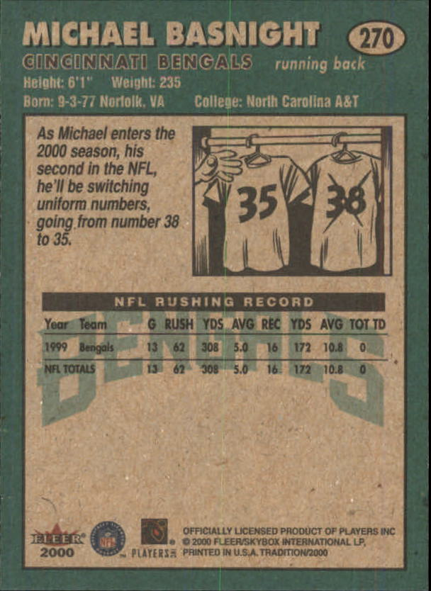 thumbnail 35 - A7983- 2000 Fleer Tradition FB #s 251-400 +Inserts -You Pick- 10+ FREE US SHIP