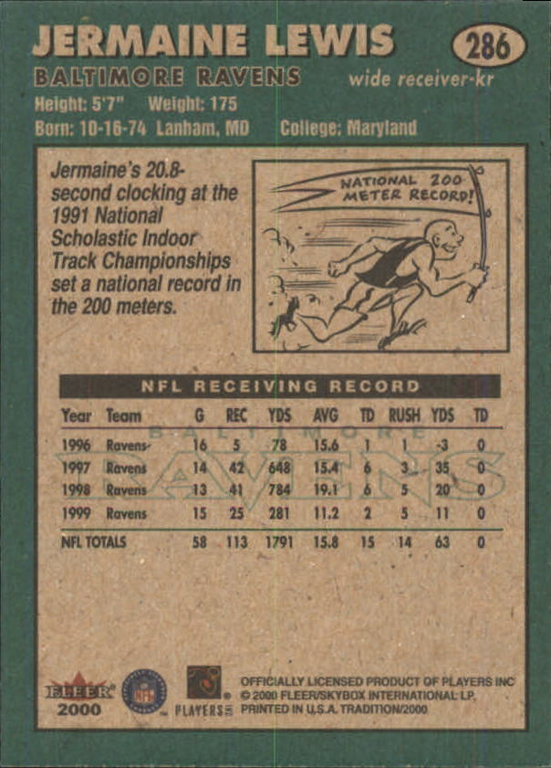 thumbnail 61 - A7983- 2000 Fleer Tradition FB #s 251-400 +Inserts -You Pick- 10+ FREE US SHIP