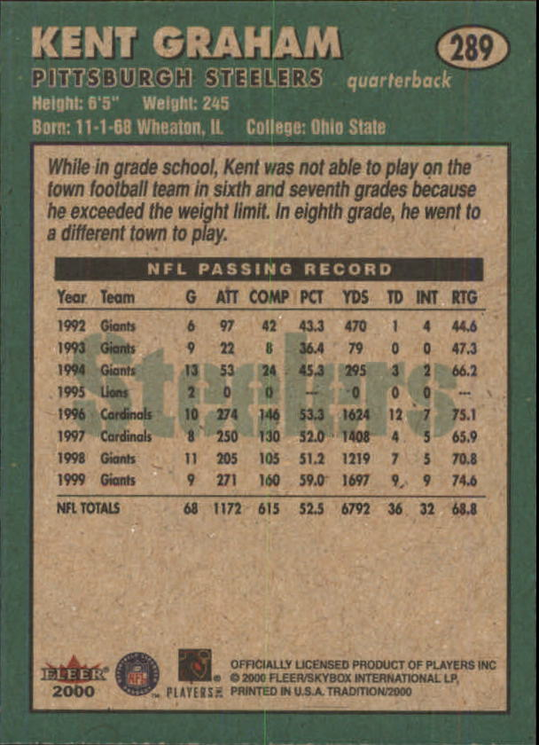 thumbnail 65 - A7983- 2000 Fleer Tradition FB #s 251-400 +Inserts -You Pick- 10+ FREE US SHIP