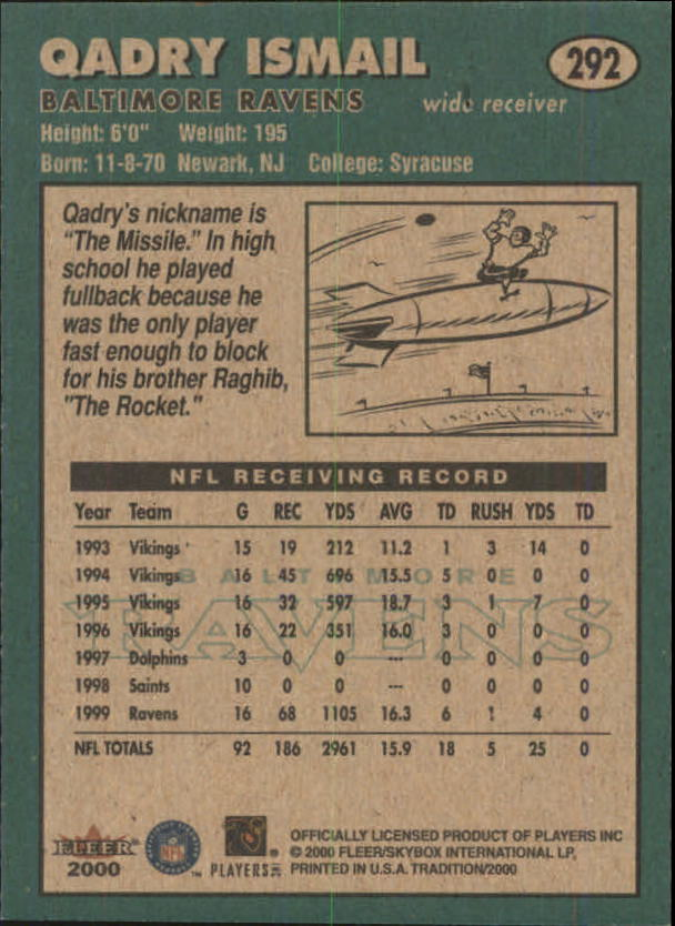thumbnail 71 - A7983- 2000 Fleer Tradition FB #s 251-400 +Inserts -You Pick- 10+ FREE US SHIP