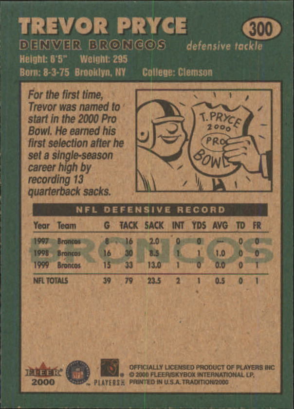 thumbnail 87 - A7983- 2000 Fleer Tradition FB #s 251-400 +Inserts -You Pick- 10+ FREE US SHIP