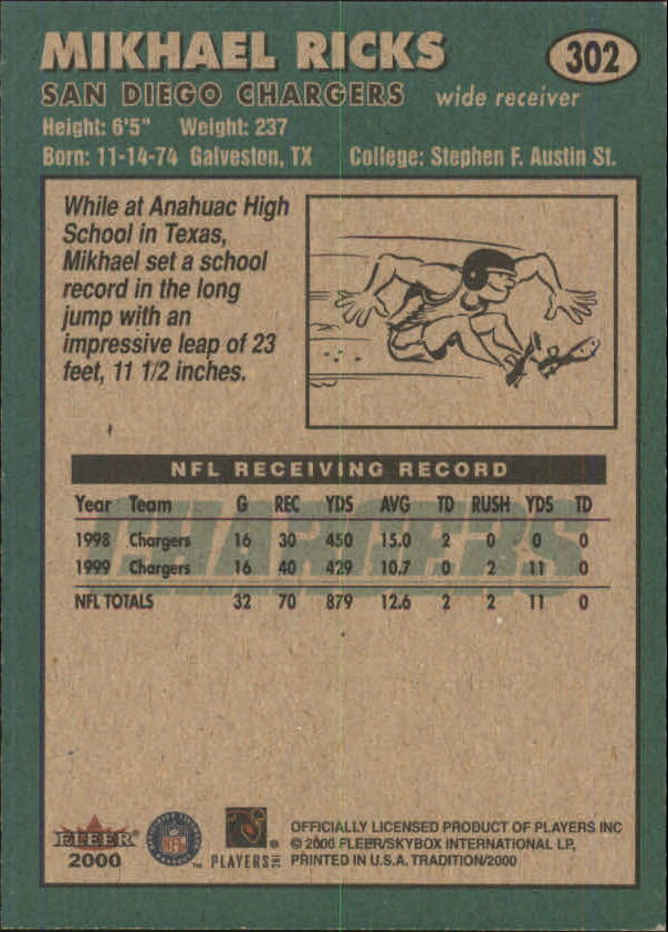 thumbnail 91 - A7983- 2000 Fleer Tradition FB #s 251-400 +Inserts -You Pick- 10+ FREE US SHIP