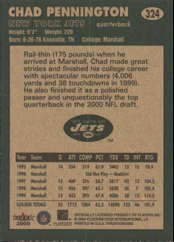 thumbnail 129 - A7983- 2000 Fleer Tradition FB #s 251-400 +Inserts -You Pick- 10+ FREE US SHIP