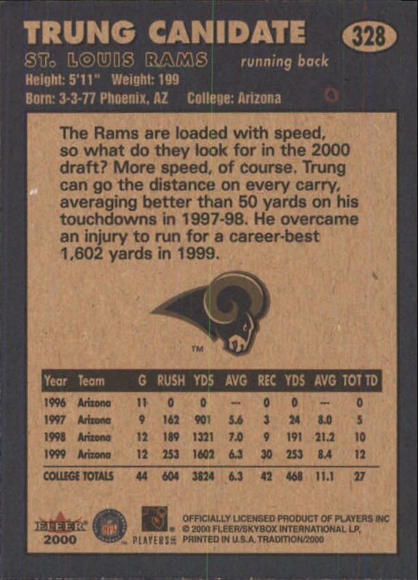 thumbnail 135 - A7983- 2000 Fleer Tradition FB #s 251-400 +Inserts -You Pick- 10+ FREE US SHIP