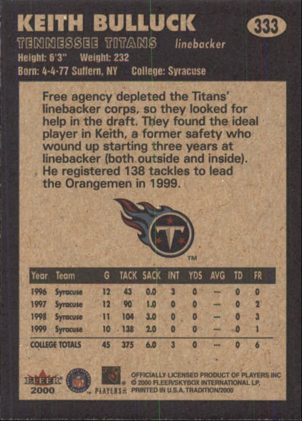 thumbnail 141 - A7983- 2000 Fleer Tradition FB #s 251-400 +Inserts -You Pick- 10+ FREE US SHIP