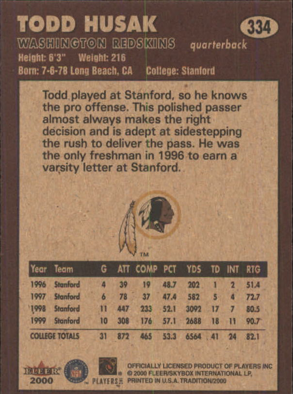 thumbnail 143 - A7983- 2000 Fleer Tradition FB #s 251-400 +Inserts -You Pick- 10+ FREE US SHIP