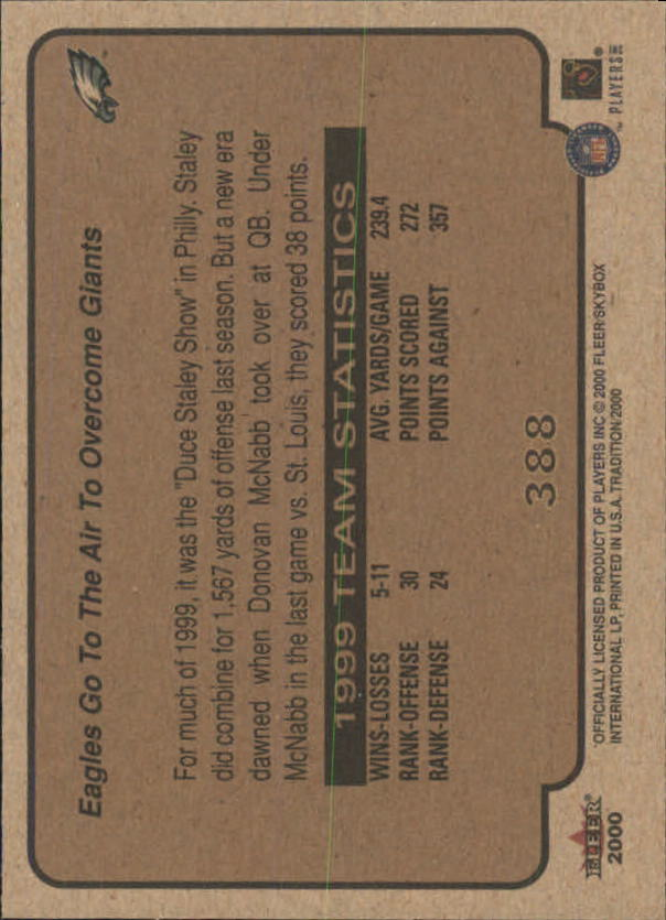 thumbnail 225 - A7983- 2000 Fleer Tradition FB #s 251-400 +Inserts -You Pick- 10+ FREE US SHIP