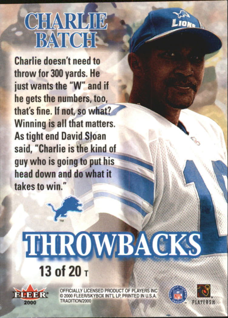 thumbnail 261 - A7983- 2000 Fleer Tradition FB #s 251-400 +Inserts -You Pick- 10+ FREE US SHIP