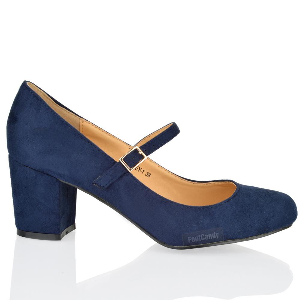 Block Heels Shoes Purple