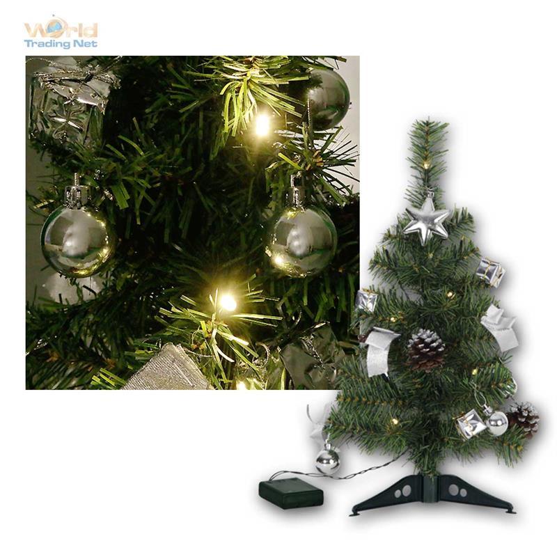 weihnachtsbaum 45cm mit deko led lichterkette christbaum. Black Bedroom Furniture Sets. Home Design Ideas