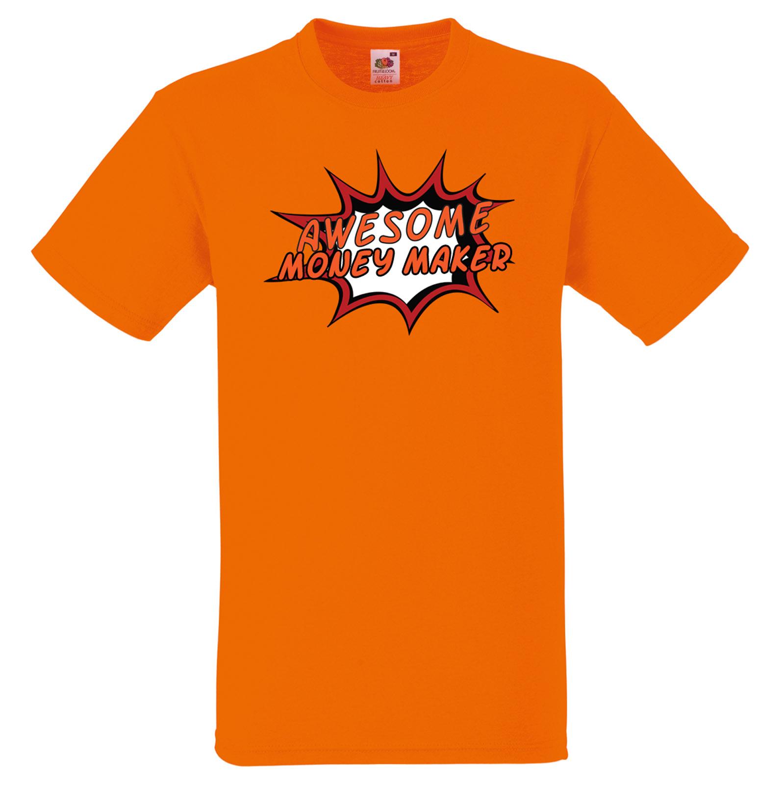 sorprendente-Dinero-fabricante-Personalizado-Comic-Estampado-Camiseta