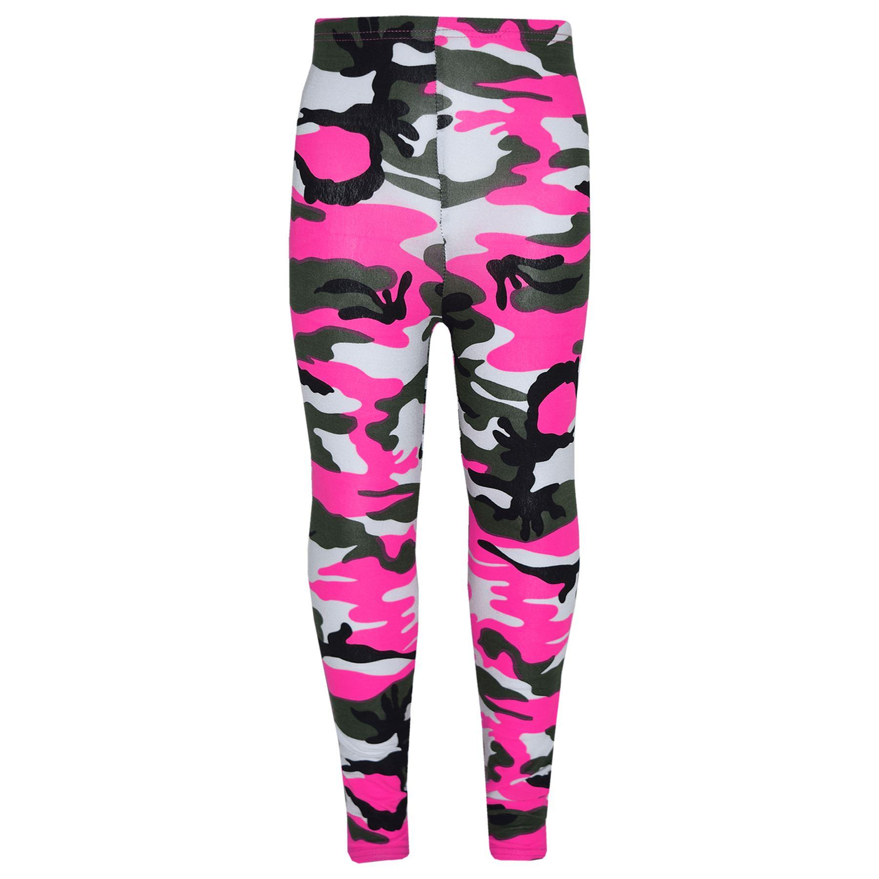 1575bc7e7eba9f Girls Tops Kids Camouflage Print Trendy Crop Top & Legging Set Age 7 ...