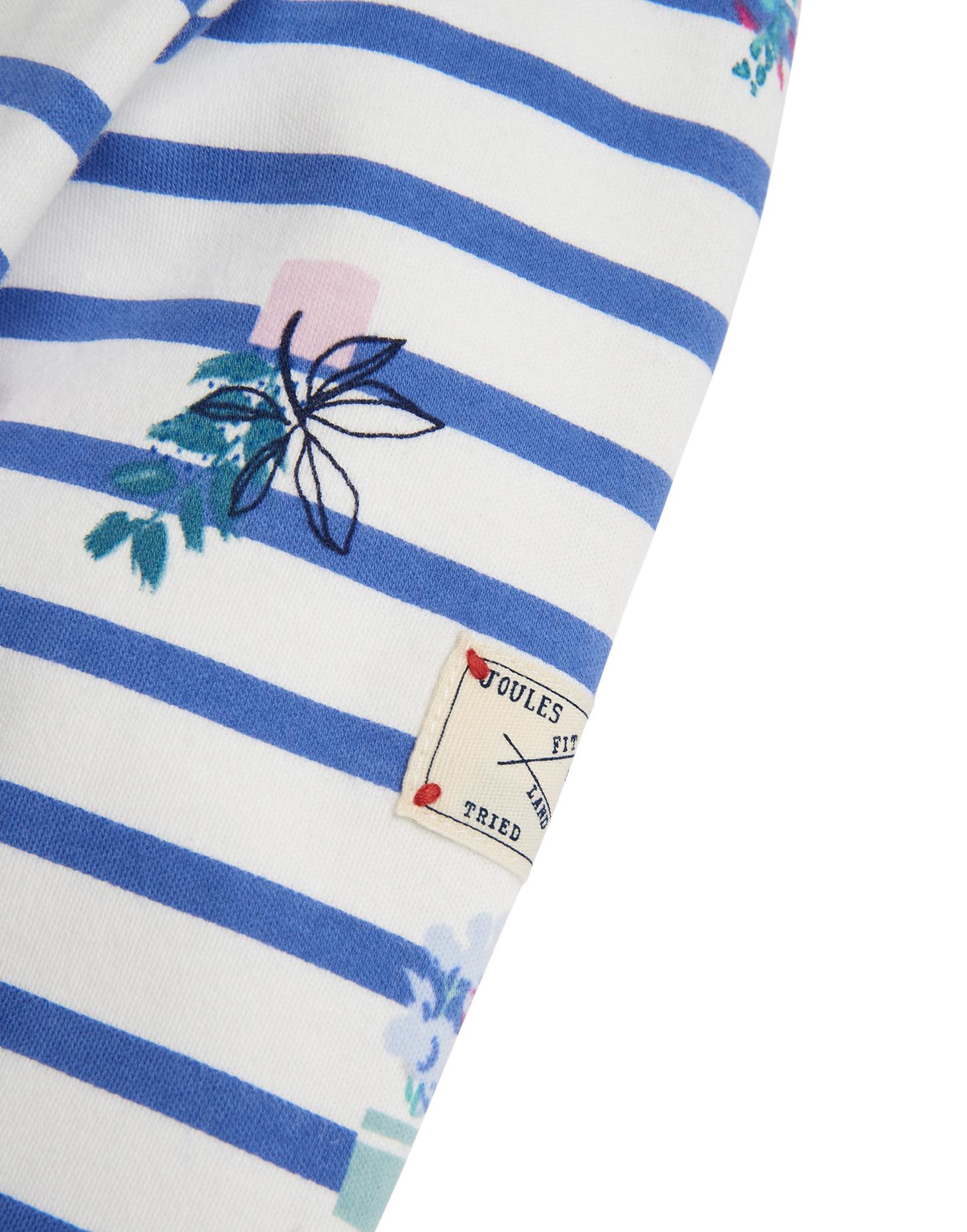Joules Camisa Top de Jersey Puerto Bebé en Stripe Multi